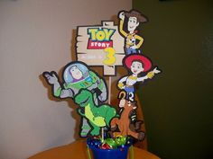 TOY STORY BIRTHDAY party favor centerpiece personalized