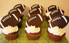 Satin Ice Fondant Football Cupcake Toppers Tutorial by Loren Ebert of The Baking Sheet | Satin Ice