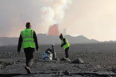 University of Iceland and Lancaster University working together. Photo: Hugh Tuffen