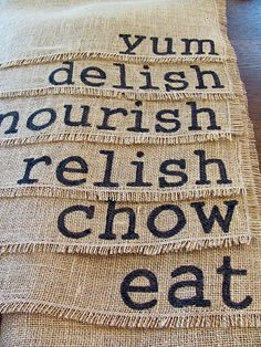 Burlap. Sharpie. Perfect Placemats. Need these for my table..
