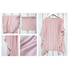 Szoptatós kendő - púder rózsaszín