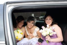 The bride and her ladies. Makeup by Laurie Hoey.