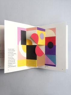 // art pop up Book, Madame Sonia Delaunay, 2015 Sonia Delaunay, Buch Design, Design Art, Layout Design, Graphic Design, Up Book, Book Art, Up Imagenes, Paper Pop