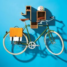 Sweet bike and bike storage. I heart Linus.