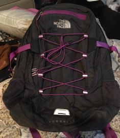 The North Face Backpack on Mercari North Face Women, The North Face, Purple Day, North Face Backpack, Dooney Bourke, Backpacks, Handbags, Grey, Accessories
