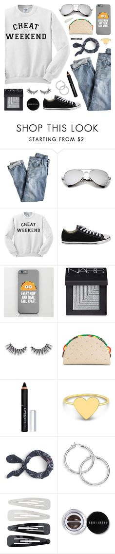 """Weekend Wear: Mini Bags"" by lgb321 ❤ liked on Polyvore featuring J.Crew, Converse, NARS Cosmetics, Givenchy, Forever 21, Bobbi Brown Cosmetics, weekend, polyvoreeditorial and minibags"