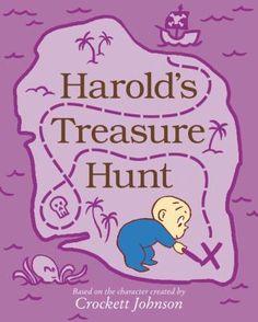 Harold's treasure hunt by Crockett Johnson. (New York, NY : Harper, an imprint of HarperCollins Publishers, [2020]).