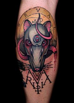 Occult rat by David Rudziński at Theatrum Symbolica in Warsaw, Poland