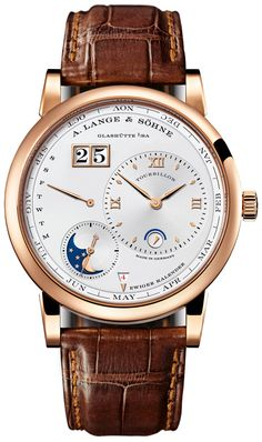 A. Lange and Sohne Lange 1 Tourbillon Silver Dial 18K Rose Gold Automatic Men's Watch 720.032