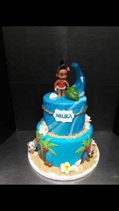 Disney Moana birthday cake #disneyprincess