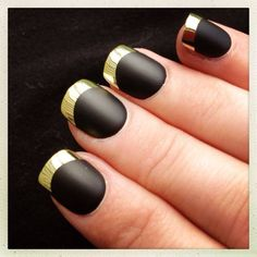 Black with gold tip