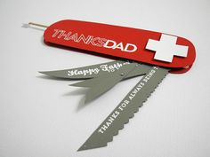 Swiss Army Dad Card by Jingle - Cards and Paper Crafts at Splitcoaststampers