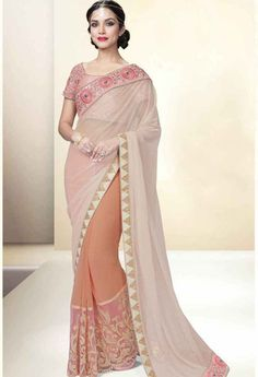 Peach Lycra Designer Saree..@ fashionsbyindia.com #designs #indian #fashion #womens #style #cloths #clothes #stylish #casual #fashionsbyindia #punjabi #suits #wedding #saree #chic #elegance #beauty #outfits #fantasy #embroidered #dress #PakistaniFashion #Fashion #Longsuit #FloralEmbroidery #Fashionista #Fashion2015 #IndianWear #WeddingWear #Bridesmaid #BridalWear #PartyWear #Occasion #OnlineShopping #sari
