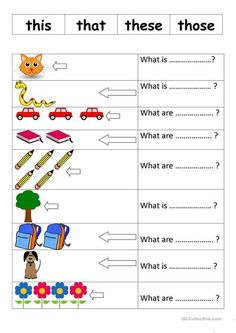 THIS THAT THESE THOSE worksheet - Free ESL printable worksheets made by teachers