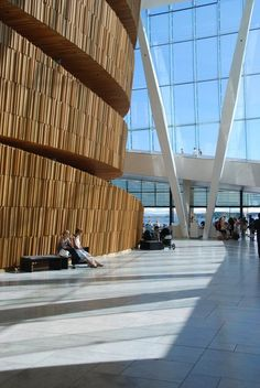 Apply Faceal Oleo HD on wood and concrete Photo: Oslo Opera House,  Snøhetta Architects