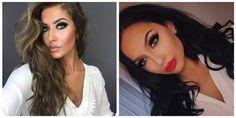 fotos de maquiagem com olho esfumado preto