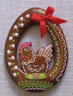 pixels Thank you Kate! Gingerbread Decorations, Gingerbread Cookies, Easter Cookies, Easter Treats, Chicken Cake, Cookie House, Cookie Designs, Easter Recipes, Cookies Et Biscuits