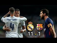 Real Madrid 11 vs Barcelona 1 - El Clásico 2017 - La Liga -Parodia - Messi vs Ronaldo - YouTube