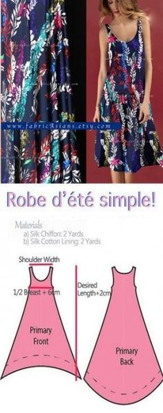how to sew beach dress? easy beach dress pattern free PDF : how to sew beach dress? Dress Sewing Patterns, Clothing Patterns, Easy Dress Pattern, Pattern Sewing, Trendy Dresses, Simple Dresses, Sewing Clothes, Diy Clothes, Diy Dress