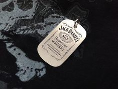 Silver handmade mini military id-Jack Daniel's by on Etsy Handmade Sterling Silver, Sterling Silver Pendants, Father's Day Unique Gifts, Miss You Gifts, Guitar Gifts, Rock Collection, Anklet, Metal Jewelry, Fathers Day Gifts