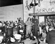 Opening night at the Hollywood Canteen