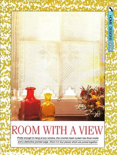 "Crochet pattern - ""Room with a View"" curtain - net see-through - Instant download"