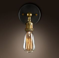 I'm totally going to figure out how to replicate this Restoration Hardware Sconce.