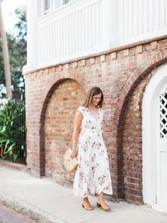 White Dress Fall Engagement Outfit
