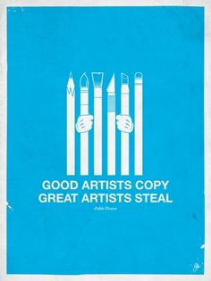 Moxy Creative - Great Artists Steal on yay!everyday #illustration #inspiration #design