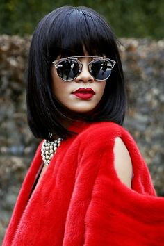Rihanna at Paris Fashion Week. www.topshelfclothes.com