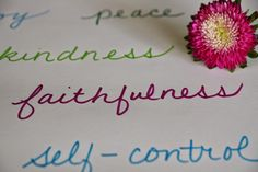 Compassion Family: What to Write ~ Fruit of the Spirit: Faithfulness