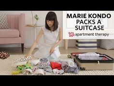 "Marie Kondo is famous for her KonMari method and bestselling book, ""The Life Changing Art of Tidying Up""—both of which promise to help you wrest control of the stuff in your home. But what about when you have to take some of that stuff on the road? Suitcase Packing Tips, Packing Tips For Travel, Apartment Therapy, Konmari Method, Travel Wardrobe, Travel Outfits, Tidy Up, Organization Hacks, Organising Tips"