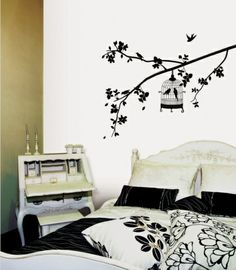 $20  Parisian Spring  Bird in Tree Silhouette Wall Decal at Art.com