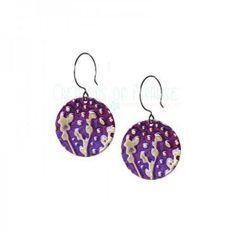 Purple Reef Coral Earring