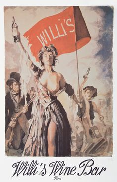 "anthony palliser's play on delacroix's ""liberty leading the people"" for willi's wine bar in paris"