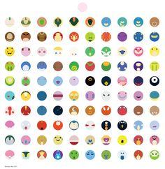 Whole pokemon character list sept 1 3552 3276 for Minimal art generator