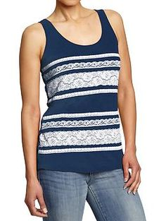 Women's Lace-Trim Tanks | Old Navy