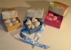 Scatoline-origami contenenti gessetti profumati.