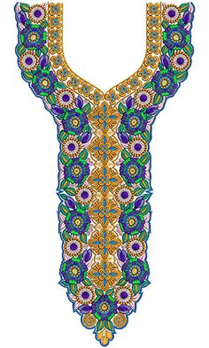 8500 Neck Embroidery Design
