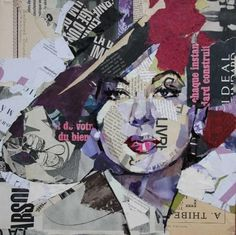 Design Build Ideas presents some wonderful, imaginative, and smart ideas on how to reuse old magazines! Paper Collage Art, Collage Art Mixed Media, Magazine Collage, Magazine Art, Collages, Collage Portrait, Portraits, Newspaper Art, Old Magazines