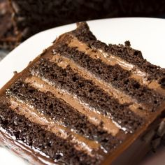 A very yummy recipe for stout cake with a creamy filling and chocolate frosting.. Chocolate Stout Cake Recipe from Grandmothers Kitchen.