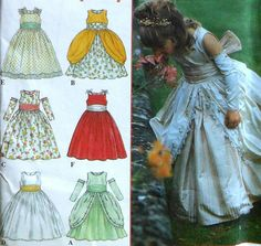 Princess Gowns Sewing Pattern