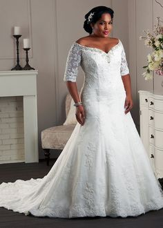 Plus Size Wedding Dresses By Bonny Bridal | The Unforgettable Collection  This is pretty
