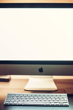 Free stock photo of apple, desk, office, technology