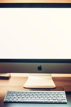 Free stock photo of apple, desk, office, technology