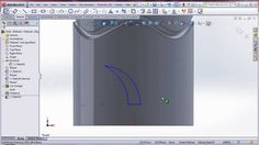 SolidWorks : Sweep cut on tank