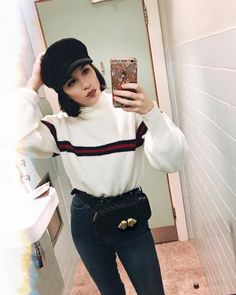 "1,548 Beğenme, 72 Yorum - Instagram'da Gabrielle (@gabriellewearsdenim): ""Favorite sweater bathroom selfie ✔️ . . . #fashion #potd #selfie #bathroomselfie #wiw #whatiwore…"""