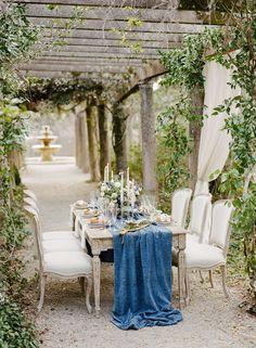 Romantic French Garden Bridal Luncheon Inspiration