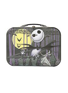 Serious question: Does Jack cut his sandwich diagonally? // Disney The Nightmare Before Christmas Jack Skellington Metal Lunchbox
