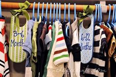 It definitely helps to have some kind of system for all those little clothes. Here's a simple closet divider that you can make on a budget of about 12 bucks.